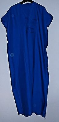 Mens Traditional  Djellaba / Robe ~ Royal Blue ~ 56""