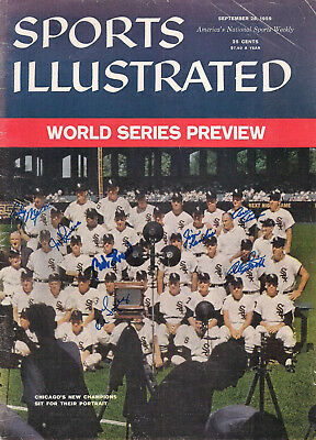 Chicago White Sox 1959 Sports Illustrated Cover Signed 7-World Series Baseball