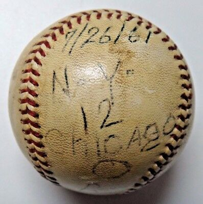 Bill Stafford Roger Maris Game Used New York Yankees Win Ball 7/25/1961