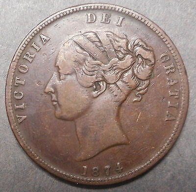 New Zealand 1874 United Service  Hotel Auckland Penny Token