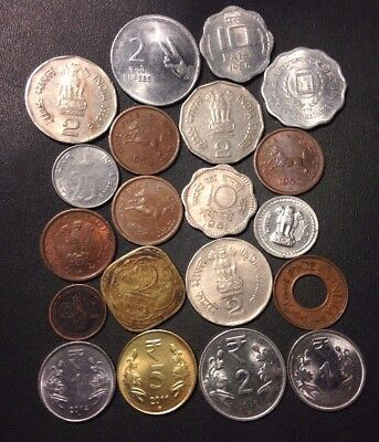 Old India Coin Lot - 1937-PRESENT - 20 Excellent Coins - Lot #119