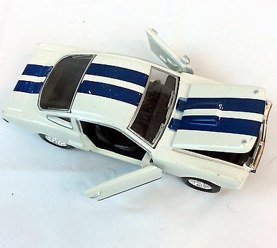1968 68 Ford Mustang Shelby GT 350 Hood Door Open Muscle Car White Blue Stripes