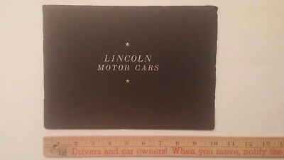 1929 LINCOLN - B&W Dealer Catalog Sales Brochure - Excellent Condition (US)