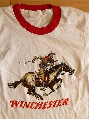 Deadstock Vintage 1970's Winchester Repeating Arms Logo Graphic T-Shirt - Small
