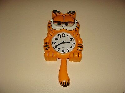 VINTAGE 1978 SUNBEAM GARFIELD Animated Wall Clock MOVING EYES TAIL Parts Only