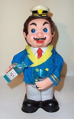 WORKING 60's BATTERY OPERATED CAPTAIN BLUSHWELL BARTENDER'S PAL MAN CAVE BAR TOY