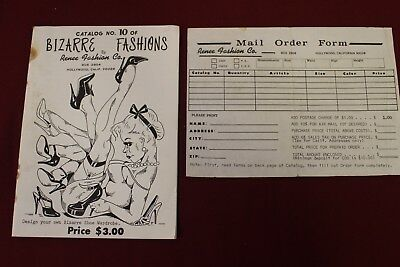 Vintage Bizarre Fashion by Renee Fashion Co. Catalog NO. 10 with order form