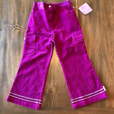 VTG Mary Jane By Buster Brown Girls Pants Size 4t Pink Corduroy BNWT