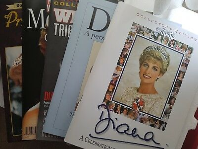 5 Princess Diana Magazines. Mint condition.
