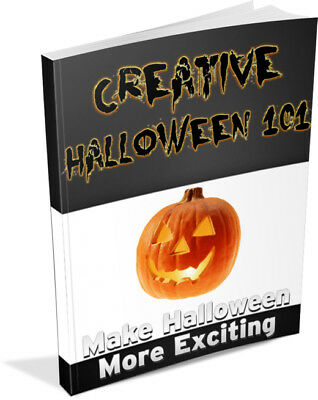 3 Halloween (ebooks/pdfs) + Over 100 Halloween Articles Crafts Decorations Ideas