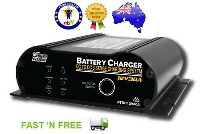 Dc To Dc Dual Battery Charger 30A Amp 12V Volt