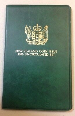 New Zealand 1986 uncirculated coin set