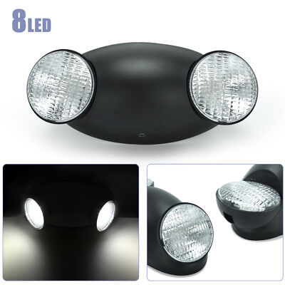 Standard LED Spot Light Black Emergency Exit Bug Eye Head Light w/ Side Lights