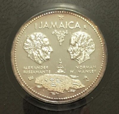 1962-1972 Jamaica 10th Anniversary of Independence - $10 Sterling Silver