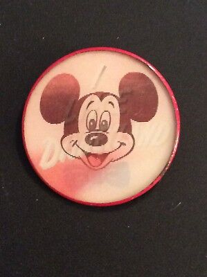 "1960's Mickey Mouse ""I Like Disneyland"" Flasher Pin Vari-Vue WDP 3"" - Red"