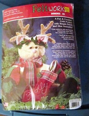 Holly Day Kitty 8126 Feltworks by Dimensions Factory sealed