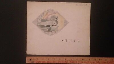 1929 STUTZ  - Color Dealer Sales Catalog Brochure - Good Condition (US)