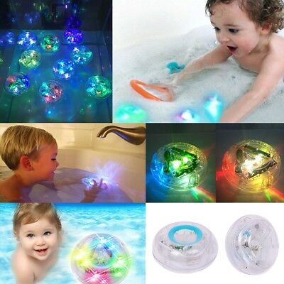 Funny Kids Baby Bath Toys RGB LED Waterproof Tub Oval Lights Lamps Glowing Balls