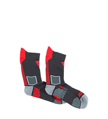Dainese - Calcetines Core Mid Sock negro, rojo, gris