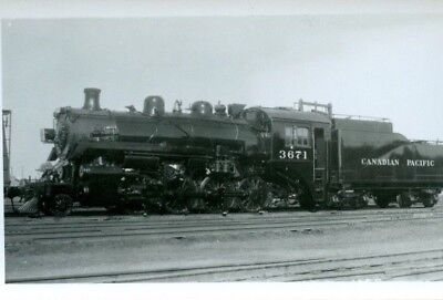 Railway Photo Canadian Pacific Rwys Steam # 3671 2-8-0