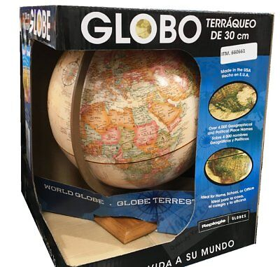 "Replogle 12""/30cm World Globe ideal for home school or office Made in the USA"