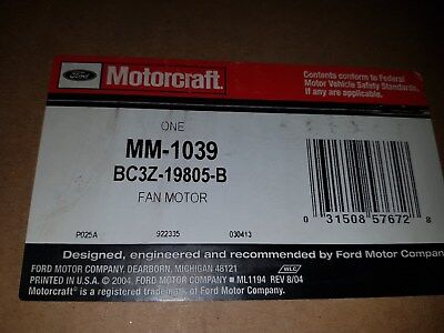 Genuine Motorcraft MM-1039 HVAC Blower Motor