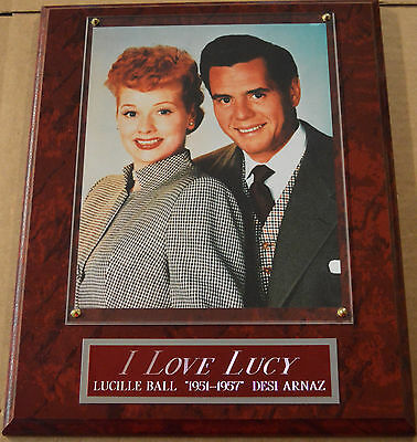 #1 Fan I Love Lucy Framed 8 X 10 Photo-12X15 Wall Plaque Display-Lucille Ball