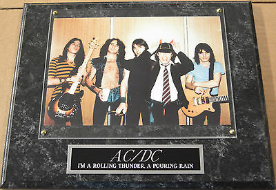 #1 Fan Ac/dc Framed 8 X 10 Photo-Man Cave Art-12 X 15 Wall Plaque Display