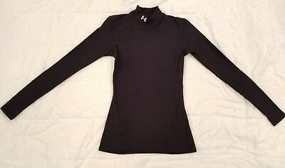 """NWOT"" Under Armour cold gear black mock neck womens compression shirt sz small"