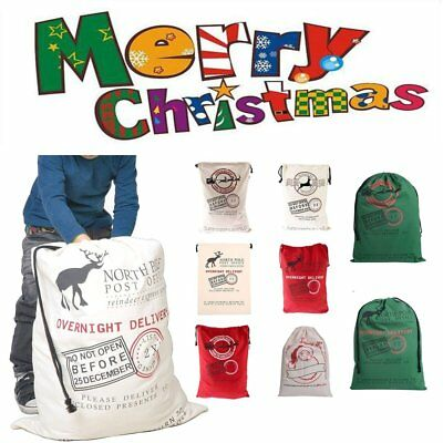 "28"" Large Christmas Gift Bag Sack Drawstring Bag Candy Present Holder Pouch Gift"
