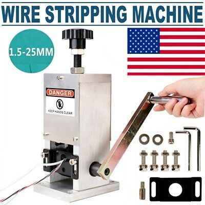 1.5-25mm Manual Wire Stripper Stripping Machine Cable Copper Peeling Stripper US