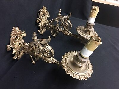 French Empire Style Bronze  19th Century Sconces
