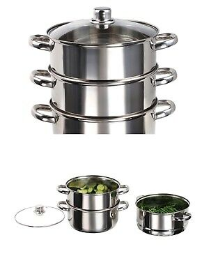 Luxury Stainless Steel Induction dapfgarer Steam Pot 24cm Saucepan 60047192