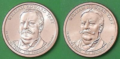 2013 US William Howard Taft Presidential Dollar Set One P&One D From Mint Rolls