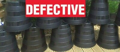 10 Litre Plastic Plant Pots Used / Defective