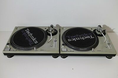 Technics SL1200 MK3D Silver Pair in VGC! From Japan