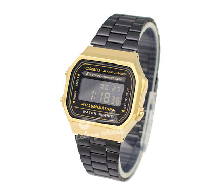 -Casio A168WEGB-1B Digital Watch Brand New & 100% Authentic