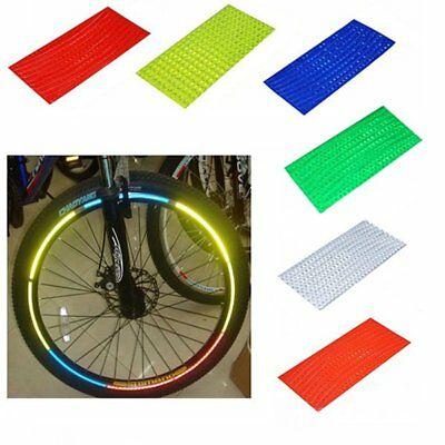 Fluorescent MTB Bike Cycling Wheel Rim Reflective Stickers Strip Decal 6 Colors