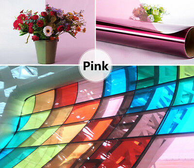 Different Color Decoraive Window Glass Sticker Film Solar Tint A4 Size