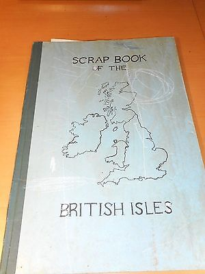 Scrap Book Of The British Isles Postcards Newspaper Clippings 1950's