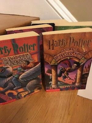 Lot Of 5 Harry Potter Paperback Books 1-5 Scholastic J.K. Rowling Set