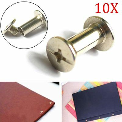 10PCS Nickel Binding Chicago Screws Nail Rivets Photo Album Leather Craft Tool