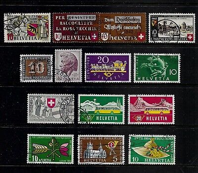 SWITZERLAND - mixed collection No.23, 1941-1955