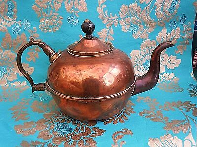 ANTQUIE Hand Crafted primative  Oldcopper Teapot GC 5 gill William Soutter BHAM