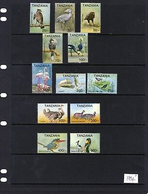 TANZANIA 1994 Birds Issues 20/- - 500/- Mtd. MINT