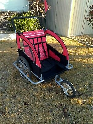 2in1 Bike Trailer Bicycle Trailer Convertible Jogger Push Pram Baby Stroller