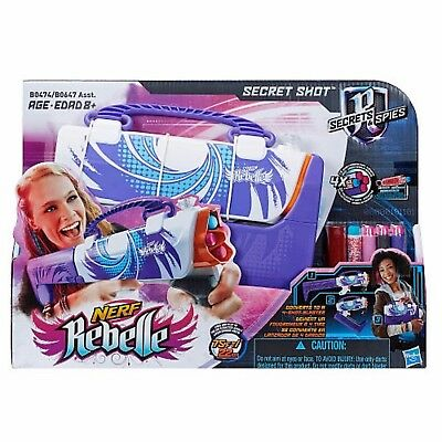 Nerf Rebelle Secrets and Spies Secret Shot Blaster Purple Toy Age 8+ Purse Girls