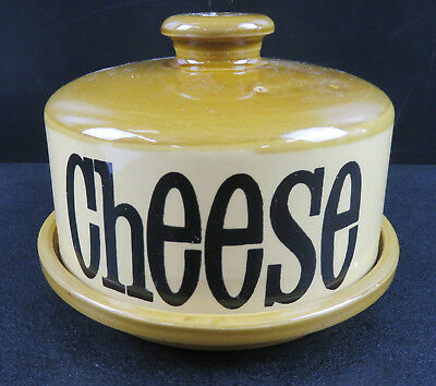 """T.G.Green Granville Brown Coloured 2 Piece Lidded Cheese Dish 4.5"""" High"""