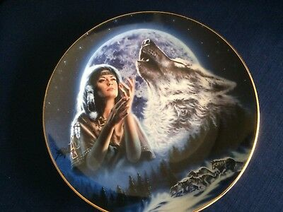 """Royal Doulton """"Maiden Of The White Wolves"""" US Indian plate"""