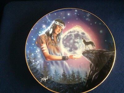 """Royal Doulton """"Maiden Of The Mystical Moon"""" US Indian plate"""